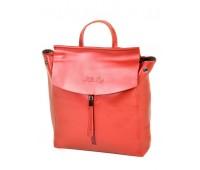 Рюкзак ALEX RAI 10-04 3206 женский кожаный красный