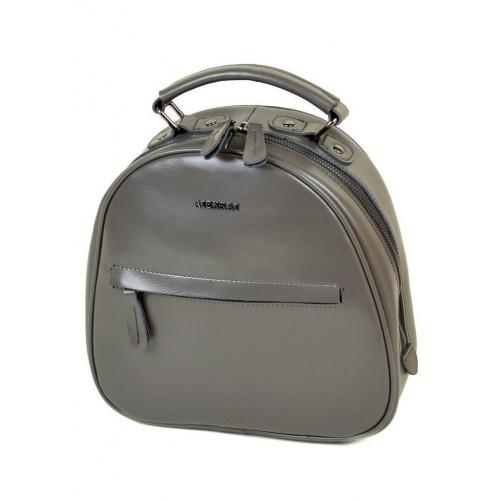 Рюкзак  ALEX RAI 10-04 8715 женский кожаный серый