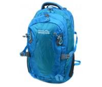 Рюкзак туристический Royal Mountain нейлоновый голубой (8463 l-blue)