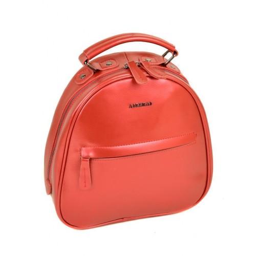Рюкзак  ALEX RAI 10-04 8715 женский кожаный красный