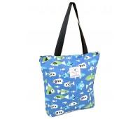 Сумка Fantasy Accessories Shopping-bag 901-1 текстильная голубая