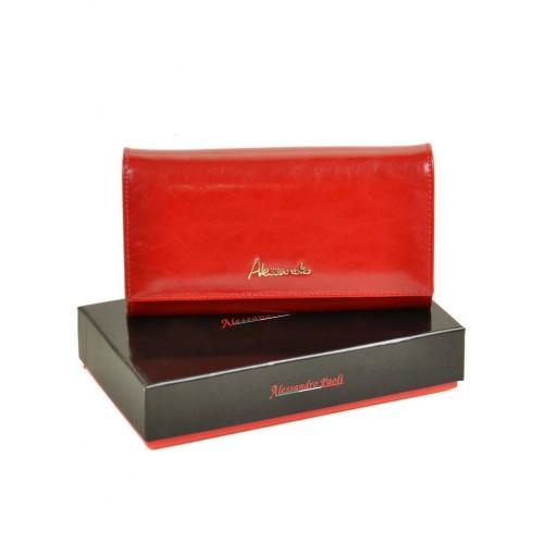 Кошелек  ALESSANDRO PAOLI W34-1 женский кожаный красный