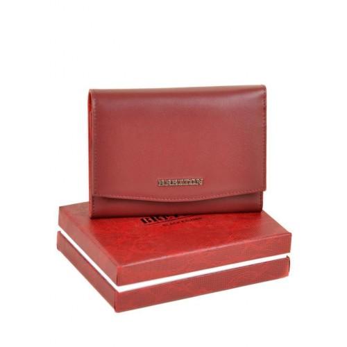Кошелек   BRETTON W5458  женский кожаный бордовый