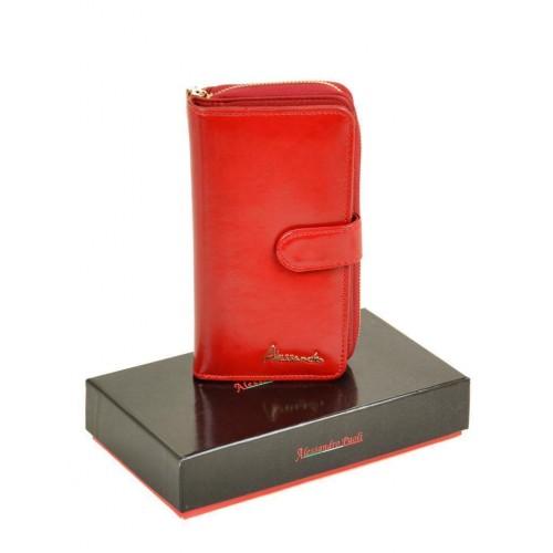 Кошелек  ALESSANDRO PAOLI W21-17  женский кожаный красный
