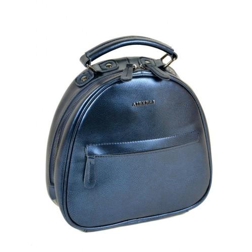 Рюкзак ALEX RAI 10-04 8715 женский кожаный синий