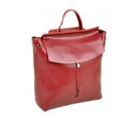 Рюкзак ALEX RAI 10-04 3206 женский кожаный темно-красный