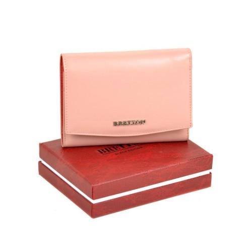 Кошелек   BRETTON W5458  женский кожаный розовый