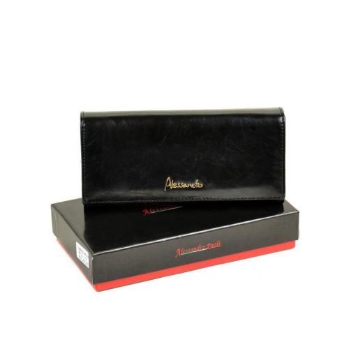 Кошелек   ALESSANDRO PAOLI W1-V  женский кожаный черный