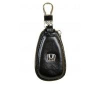 Ключница F633 Honda мужская кожаная черная для авто