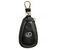 Ключница F633 Lexus мужская кожаная черная для авто