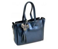 Сумка ALEX RAI 10-03 8682 женская кожаная синяя