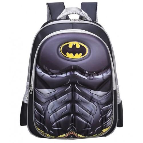 Рюкзак Xiang Huang школьный с объёмным изображением Batman Бэтмен серый (XH3D-Batman)