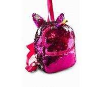 Рюкзак Fantasy Accessories Unicorn Единорог с пайетками для девочек малиново-серебристый (FA-shine04Mal)
