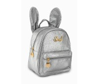 Рюкзак Fantasy Accessories Mini Rabbit для девочек блестящий серебристый (FA-R02silver)