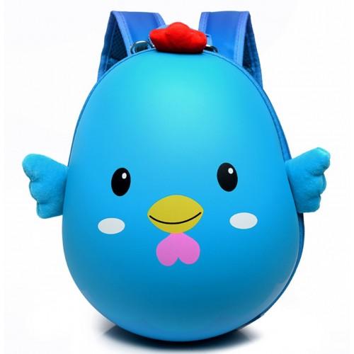 Рюкзак Cappuccino Toys Pre-school 3D дошкольный плотный корпус Цыпленок голубой (CT-Ch-04blue)