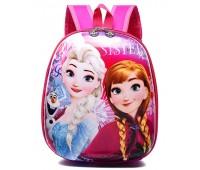 Рюкзак дошкольный Cappuccino Toys Disney Frozen Холодное сердце Анна и Эльза розовый (CT-DF-01oval)