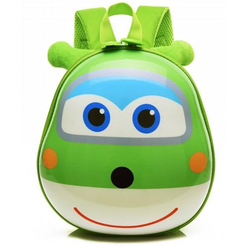 Рюкзак Cappuccino Toys Pre-school 3D дошкольный Super Wings Супер Вингс Супер крылья плотный корпус зеленый (CT-V-05green)
