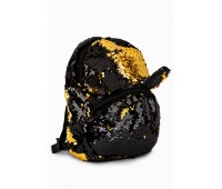Рюкзак Fantasy Accessories EARS для девочек с двусторонними пайетками черно-золотой (FA-BSh04black)