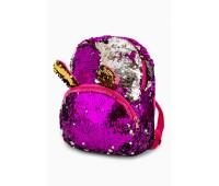 Рюкзак Fantasy Accessories EARS для девочек с двусторонними пайетками малиново-серебристый (FA-BSh02Mal)