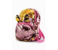 Рюкзак Fantasy Accessories EARS для девочек с двусторонними пайетками розово-золотой (FA-BSh05pink)