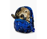 Рюкзак Fantasy Accessories EARS для девочек с двусторонними пайетками сине-золотой (FA-BSh01blue)