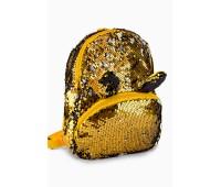 Рюкзак Fantasy Accessories EARS для девочек с двусторонними пайетками золотой (FA-BSh06gold)
