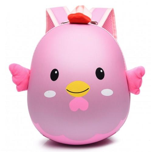 Рюкзак Cappuccino Toys Pre-school 3D дошкольный плотный корпус Цыпленок розовый (CT-Ch-03pink)
