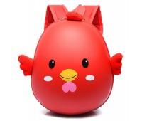 Рюкзак Cappuccino Toys Pre-school 3D дошкольный плотный корпус Цыпленок красный (CT-Ch-01red)