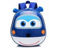 Рюкзак Cappuccino Toys Pre-school 3D дошкольный Super Wings Супер Вингс Супер крылья плотный корпус синий (CT-V-08blue)