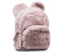 Рюкзак детский меховой с ушками Cappuccino Toys CT7403.277-DP розовый