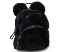 Рюкзак детский меховой с ушками Cappuccino Toys CT7403.277 черный