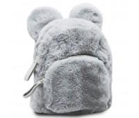 Рюкзак детский меховой с ушками Cappuccino Toys CT7403.277 серый