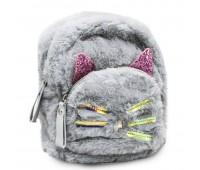Рюкзак детский меховой  Cappuccino Toys CT7218.277 серый