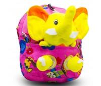 Детский дошкольный рюкзак  Cappuccino Toys CT2247.277-слоник-2 розовый