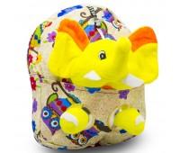 Детский дошкольный рюкзак  Cappuccino Toys CT2248.277-слоник бежевый