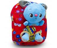 Детский дошкольный рюкзак  Cappuccino Toys CT2248.277-зайчик красный