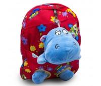 Детский дошкольный рюкзак  Cappuccino Toys CT2249.277-бегемотик красный