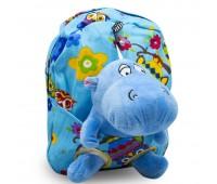 Детский дошкольный рюкзак  Cappuccino Toys CT2249.277-бегемотик голубой