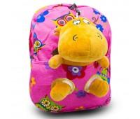 Детский дошкольный рюкзак  Cappuccino Toys CT2249.277-бегемотик розовый