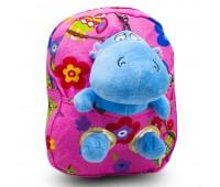 Детский дошкольный рюкзак  Cappuccino Toys CT2249.277-бегемотик-1 розовый