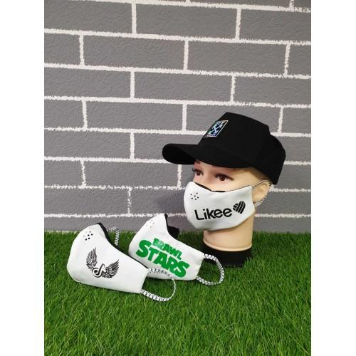 Защитная маска на лицо подростковая со съемным фильтром (комплект 3 маски Ассорти + 30 фильтров)
