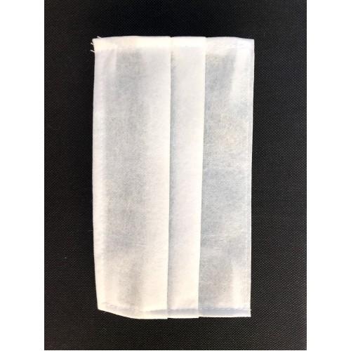 Маска защитная для лица (комплект 50 шт.) одноразовая двухслойная плотность 100 г/м²