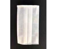 Маска защитная для лица (комплект 100 шт.) одноразовая двухслойная плотность 100 г/м²