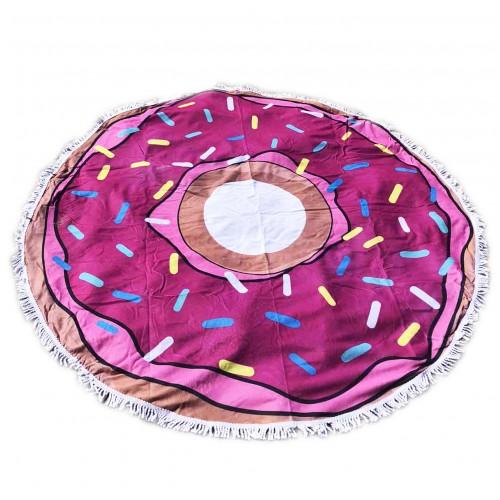 Пляжное полотенце подстилка Fantasy Accessories Пончик 2182.277 круглое, 150 см