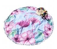 Пляжное полотенце подстилка Fantasy Accessories Фламинго 2180.277 круглое, 150 см