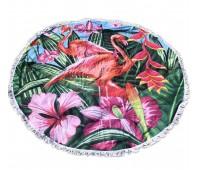Пляжное полотенце подстилка Fantasy Accessories Фламинго 2179.277 круглое, 150 см