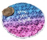 Пляжное полотенце подстилка Fantasy Accessories МОРЕ 2176.277 круглое, 150 см