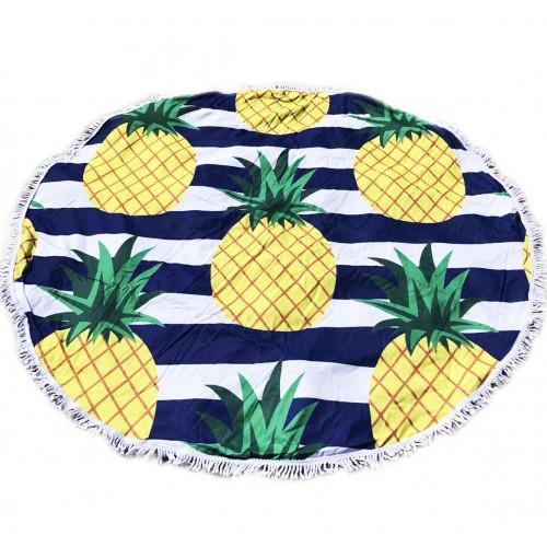 Пляжное полотенце подстилка Fantasy Accessories Ананас  2175.277 круглое, 150 см