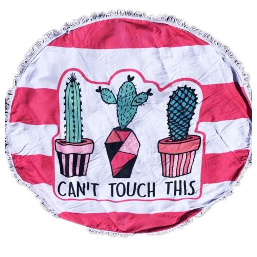 Пляжное полотенце подстилка Fantasy Accessories Кактусы 2194.277 круглое, 150 см