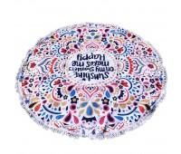 Пляжное полотенце подстилка Fantasy Accessories Орнамент 2184.277 круглое, 150 см